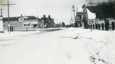 Winter on Main Street, South River, circa 1948