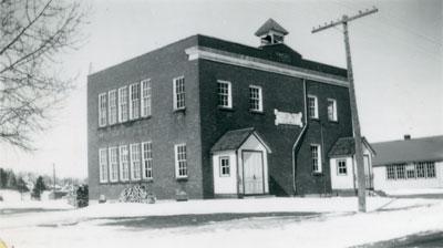 South River Public School in Winter, 1948
