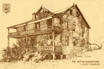 Hand Drawn Postcard of the Detta Homestead