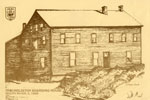 Hand Drawn Postcard of The Holditch Boarding House, circa 1900