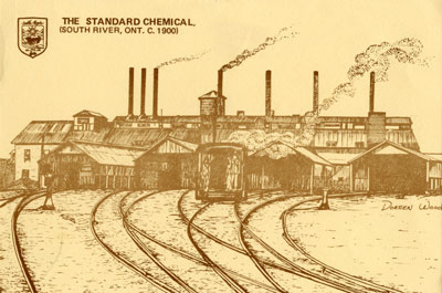 Hand Drawn Postcard of the Standard Chemical Company South River, circa 1900