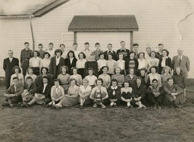South River Continuation School Grade 9 - 12 Class Photograph, 1949