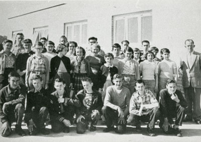 Mr. Proudfoot's South River Public School Grades 7 & 8 Class Photograph, 1956-1957