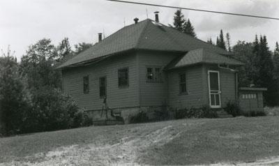 Former Schoolhouse, School Section #3, Machar Township, circa 1970
