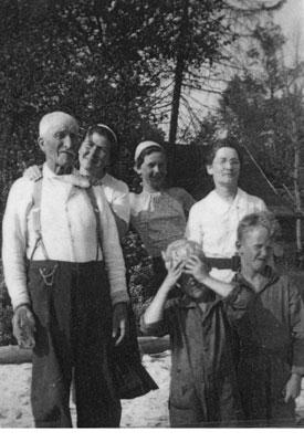 Carroll Family at Eagle Lake, circa 1940