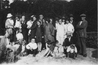 Carroll Family at Eagle Lake, circa 1925