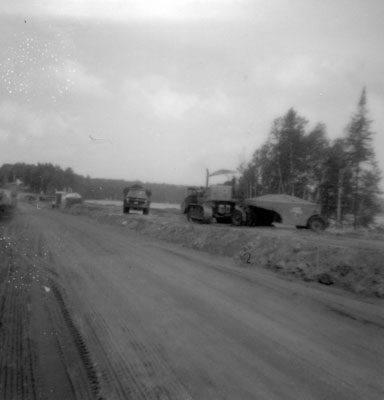 Construction at the Narrows - Bulldozer by the Dirt Road
