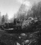 Construction at the Narrows--Bulldozer and Dump Truck, circa 1930