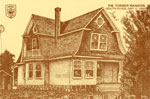 Hand Drawn Postcard of the Turner Mansion, South River