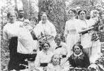John Anderson Family in Sugar Bush, circa 1920