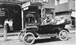 The Kemp Family in their Car, circa 1915