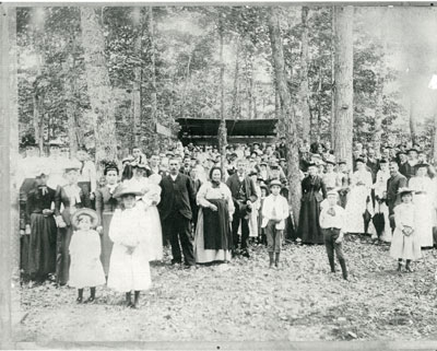 Family Reunion in the Woods, circa 1890