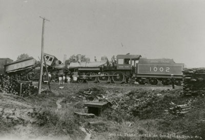 Two Locomotives Collide, Grand Trunk Railroad, 1906