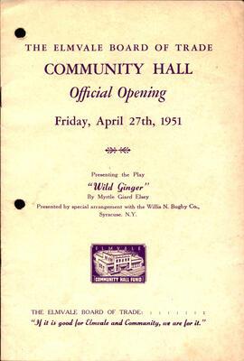 Elmvale Community Hall Opening, 1951