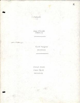 Sunday School Records, 1906-1912, Saurin