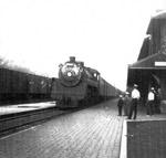 Westbound Passenger Train Arriving At Schreiber (~1947)