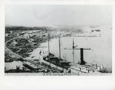 Construction of C.P.R. - McKay's Harbour (Now Rossport)