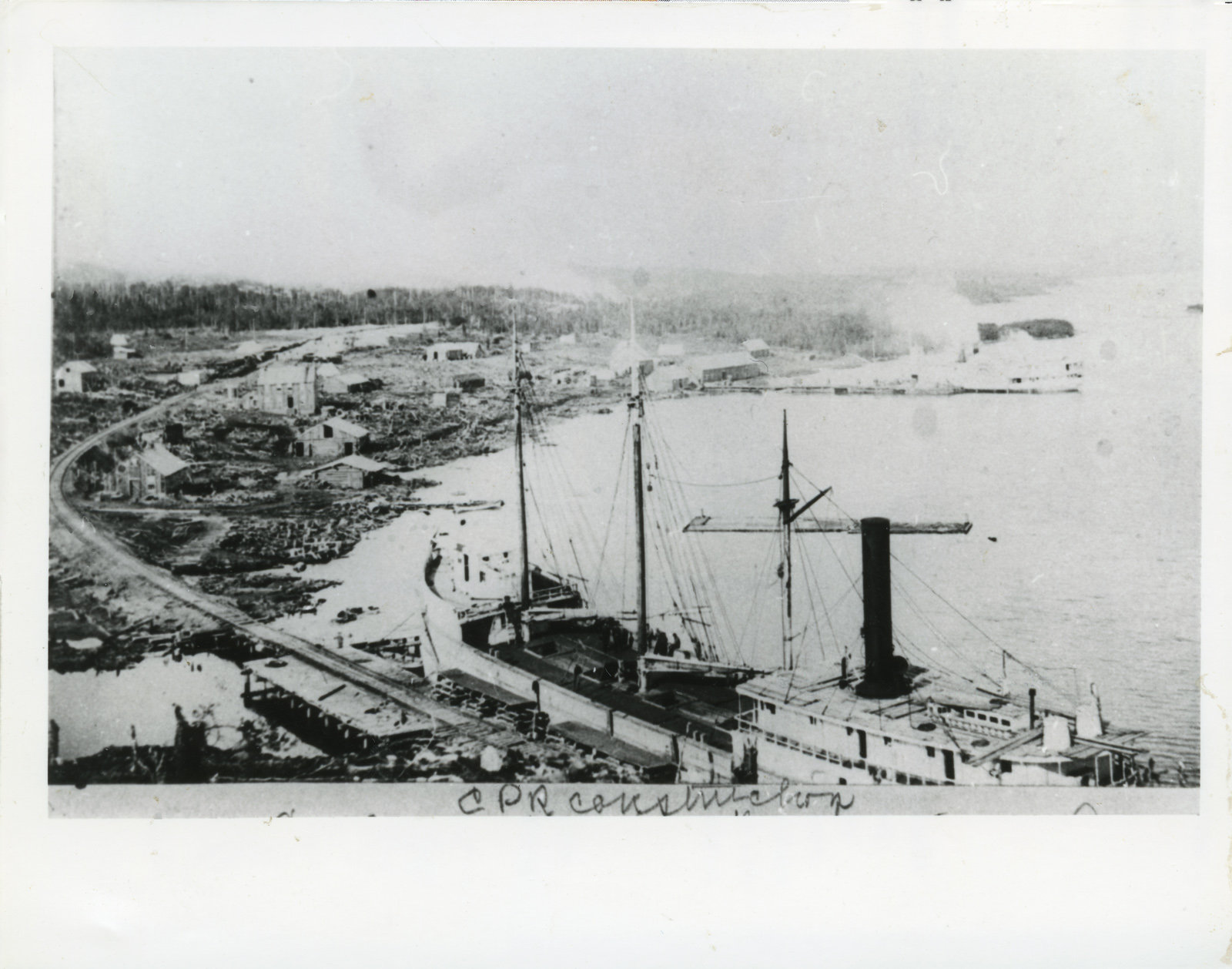 Construction of C.P.R. - McKay's Harbour (Now Rossport)
