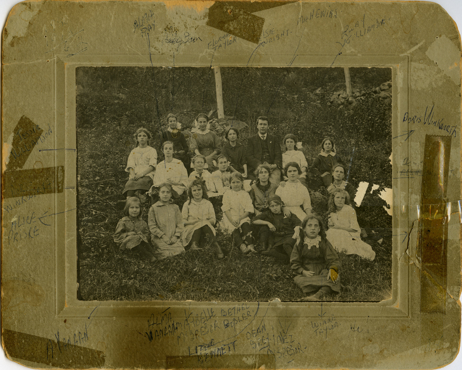 Mr. Hewin's Girl's Club 1918