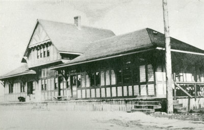 Post card of Old C.P.R. Station