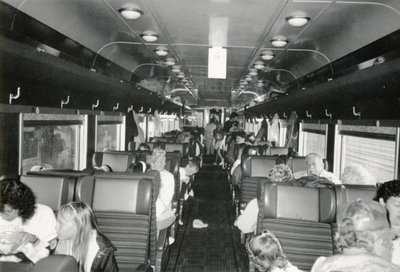 Passengers inside the train