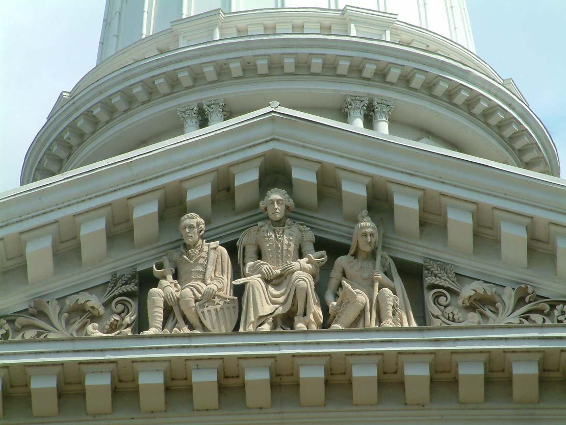 Tecumseh statue - Tippecanoe County Courthouse, Indiana