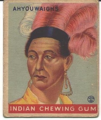 1933 Goudey Indian Gum Cover with John Brant's Image