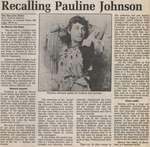 """Recalling Pauline Johnson"""
