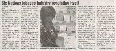 """Six Nations Tobacco Industry Regulating Itself"""