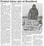"""Protest Takes Aim at Brantford"""