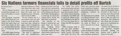 """Six Nations Farmers Financials Fails to Detail Profits Off Burtch"""