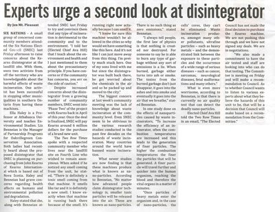 """Experts Urge A Second Look at Disintegrator"""
