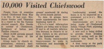 """""""10,000 Visited Chiefswood"""""""