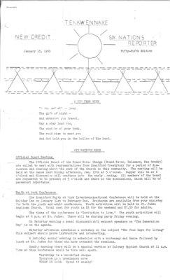 Tekawennake News - January 15, 1969
