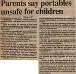 """""""Parents Say Portables Unsafe for Children"""""""