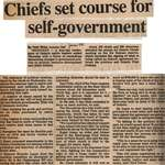"""""""Chiefs Set Course for Self-Government"""""""