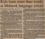 """""""Kids learn more than words at Mohawk language school"""""""
