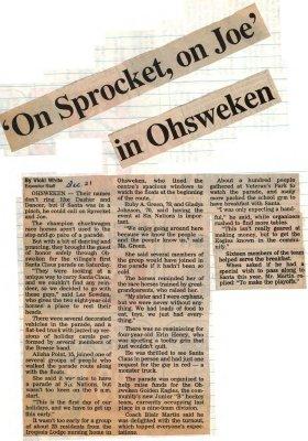 """""""'On Sprocket, on Joe' in Ohsweken"""""""