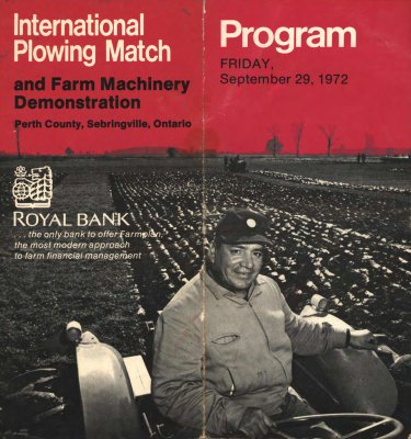 """International Plowing Match and Farm Machinery Demonstration - Program"""