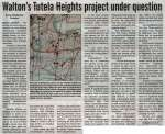"""Walton's Tutela Heights project under question"""