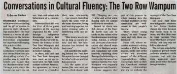 """Conversations in Cultural Fluency: The Two Row Wampum"""