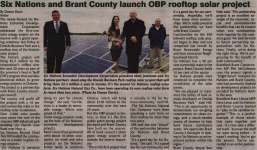"""""""Six Nations and Brant County launch OBP rooftop solar project"""""""
