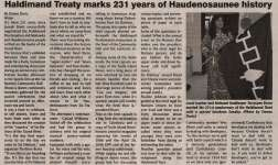 """Haldimand Treaty marks 231 years of Haudenosaunee history"""