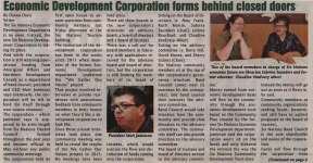 """Economic Development Corporation forms behind closed doors"""