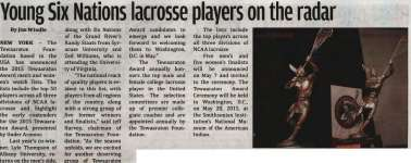 """""""Young Six Nations lacrosse players on the radar"""""""