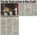 """""""Pan-Am Torch arrives in New Credit"""""""