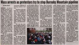 """""""Mass arrests as protestors try to stop Burnaby Mountain pipeline"""""""