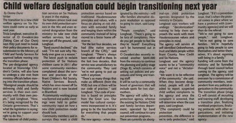 """Child welfare designation could begin transitioning next year"""