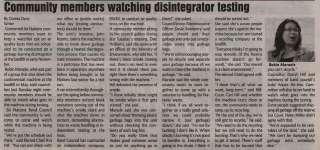 """""""Community members watching disintegrator testing"""""""