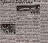 """Haudenosaunee Chiefs shut down Cayuga bridge project after Ontario fails to consult"""